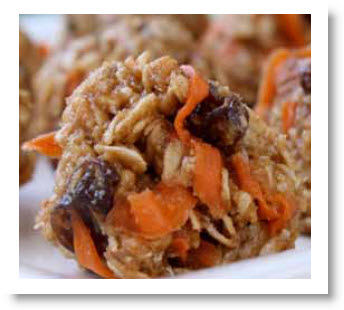 carrot raisin energy bars